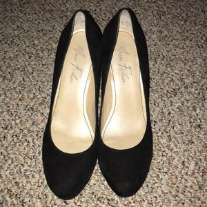 Marc Fisher black suede heels